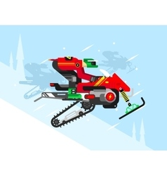 Racing competitions on snowmobiles vector image