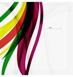 Rainbow color wave stripes vector image