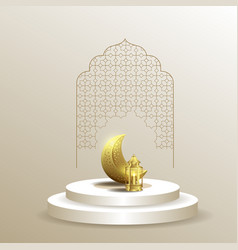ramadan kareem islamic background template vector image