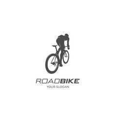 road bike silhouette vector image