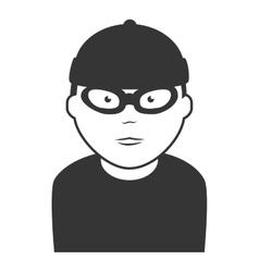 robber thief man icon vector image