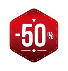 Sale ten percent off banner red patch vector