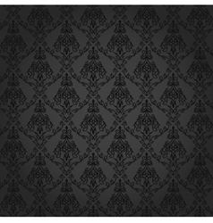 Seamless Damask Wallpaper 4 Gray Color vector