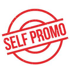 Self promo rubber stamp vector
