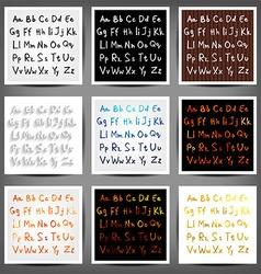 set handwritten english alphabets vector image
