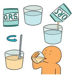 Set oral rehydration salt vector
