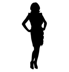sexy woman with long legs in a dress on high vector image