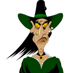 terrible witch vector image