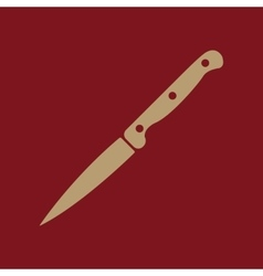 The knife for meat icon knife and chef kitchen vector