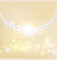 The pearl necklace vector