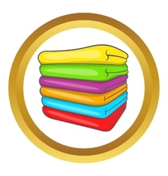 Towel stack icon vector