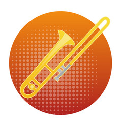 Trombone icon wind music instrument concept vector