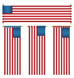 Usa banners vector
