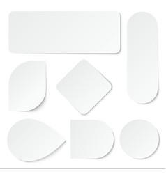 white paper stickers blank labels tags vector image