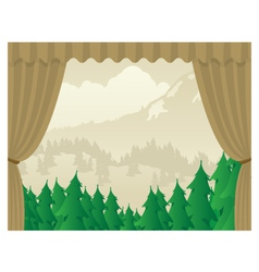 Wilderness scene stagejpg vector
