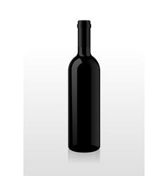 Bottle of wine blank vector