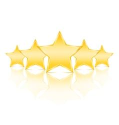 Five Golden Stars vector image vector image