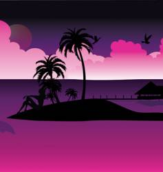 night island vector image