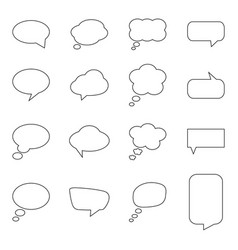 set of blank speech bubbles vector image vector image
