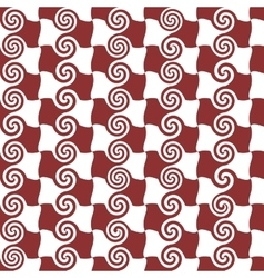 Square and spiral seamless pattern vector image vector image