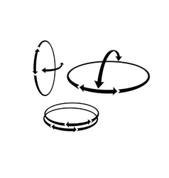 The round Arrows showing the complex hinge vector image vector image