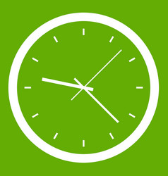 wall clock icon green vector image