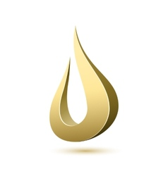 Abstract drop icon template vector image vector image