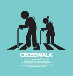 The Elderly On The Crosswalk Symbol vector image vector image