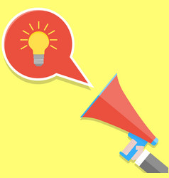 announcement idea vector image