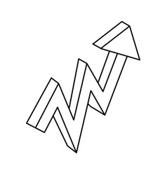 arrow pointing right 3d vector image vector image