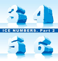 ice numbers Part 2 vector image
