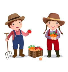 Profession costume of farmer for kids vector image vector image