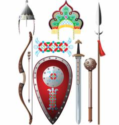 ancient russia set vector image vector image