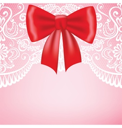 Background with lace border on pink background vector