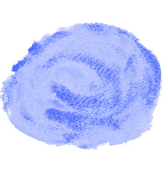 blue watercolor spot vector image vector image