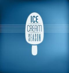 Ice Cream Sign vector image