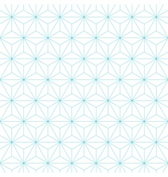 japanese asanoha pattern background vector image vector image