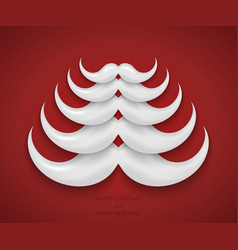 modern concept santa mustache and christmas vector image