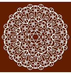 napkin on brown vector image