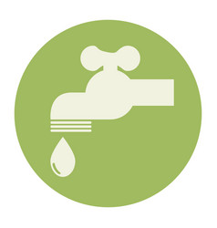 tap water ecology icon vector image vector image