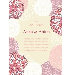 Wedding invitation on the theme of flowers vector