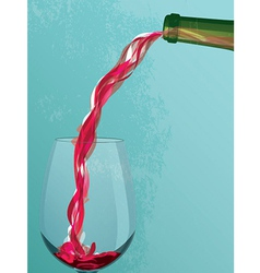 Wine Pouring vector image vector image
