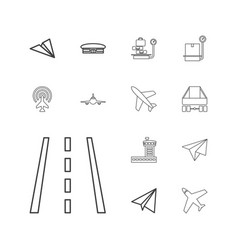 13 airplane icons vector