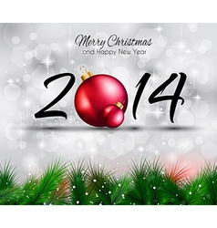 2014 christmas and new yaer colorful background vector