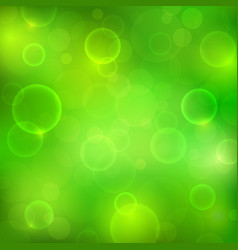 abstract green background with magic lights vector image