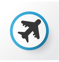 aircraft icon symbol premium quality isolated vector image
