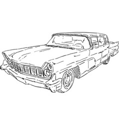american old car vector image