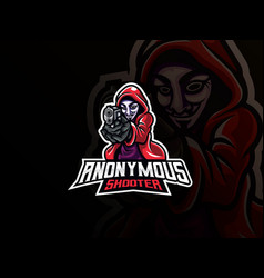 anonymous mascot sport logo design vector image