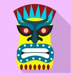 Aztec idol icon flat style vector