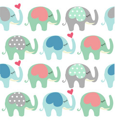 baby shower greeting card with elephant vector image